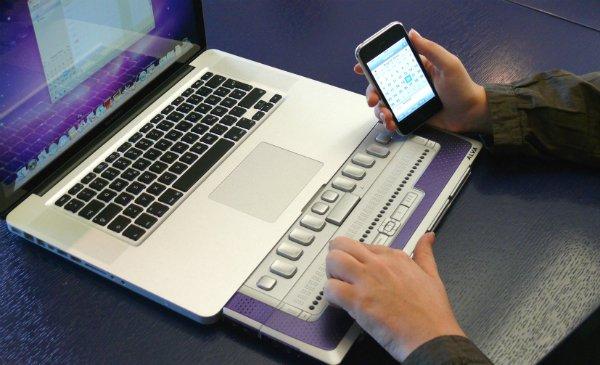 Apple támogatott Braille kijelző