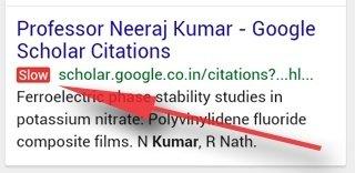 Google teszt: red slow label