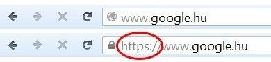 HTTP vs HTTPS Google találati oldal